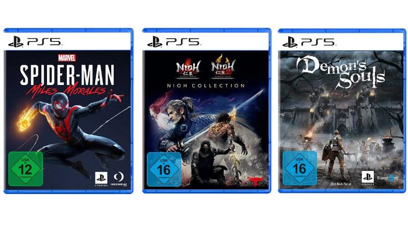 20% Zusatzrabatt beim Kauf von 2 Spielen – Demon's Souls, Spider-Man: Miles Morales, NIOH Collection