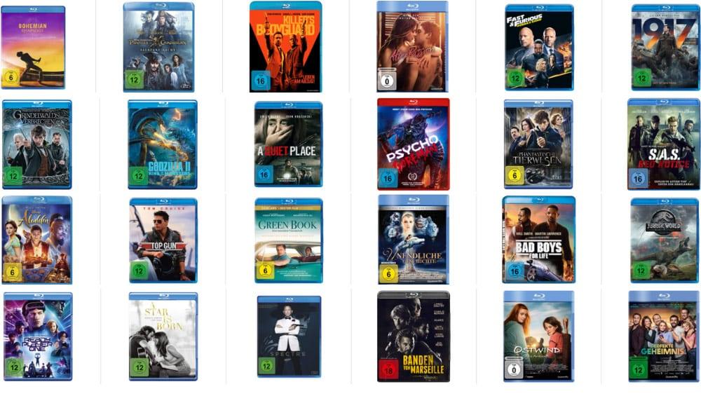 2 Blu-rays für 15€ – Auswahl aus über 70 Titeln & 3 DVDs für 15€