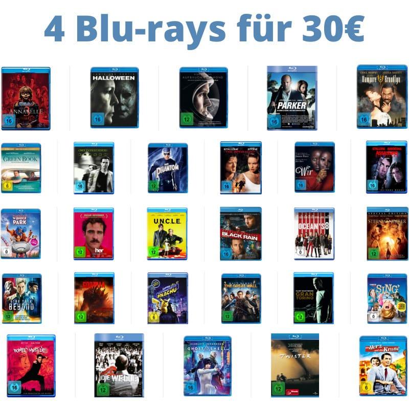 4 Blu-rays für 30€ – Auswahl aus über 320 Titeln