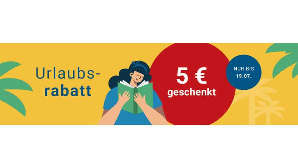 """5€ """"Urlaubs-Rabatt"""" auf gebrauchtes – ab 25€ Bestellwert bei Medimops"""