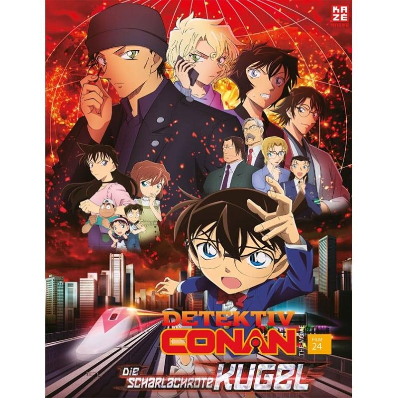 """""""Detektiv Conan: Die scharlachrote Kugel (2021)"""" ab September 2021 auf Blu-ray und DVD"""