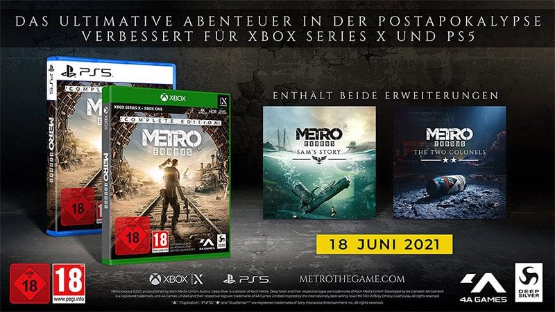 """""""Metro Exodus"""" Complete Edition ab Juni 2021 für die Playstation 5 und Xbox Series X/S"""