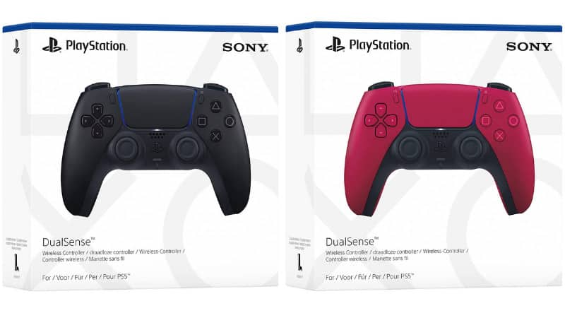 Sony Playstation5 DualSense Wireless Controller Midnight Black und Cosmic Red