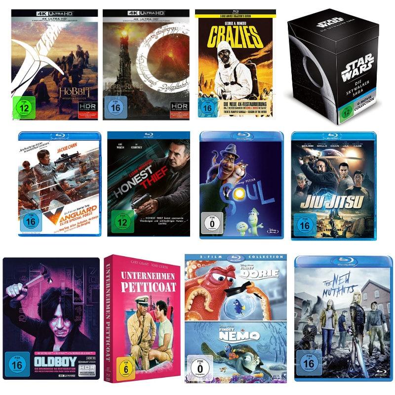 Filme und Serien um 15% reduziert bei Mueller und Amazon (4K UHD, Blu-ray und DVD)