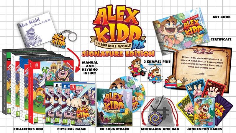 """""""Alex Kidd – In Miracle World"""" Signature Edition und Standard Variante"""