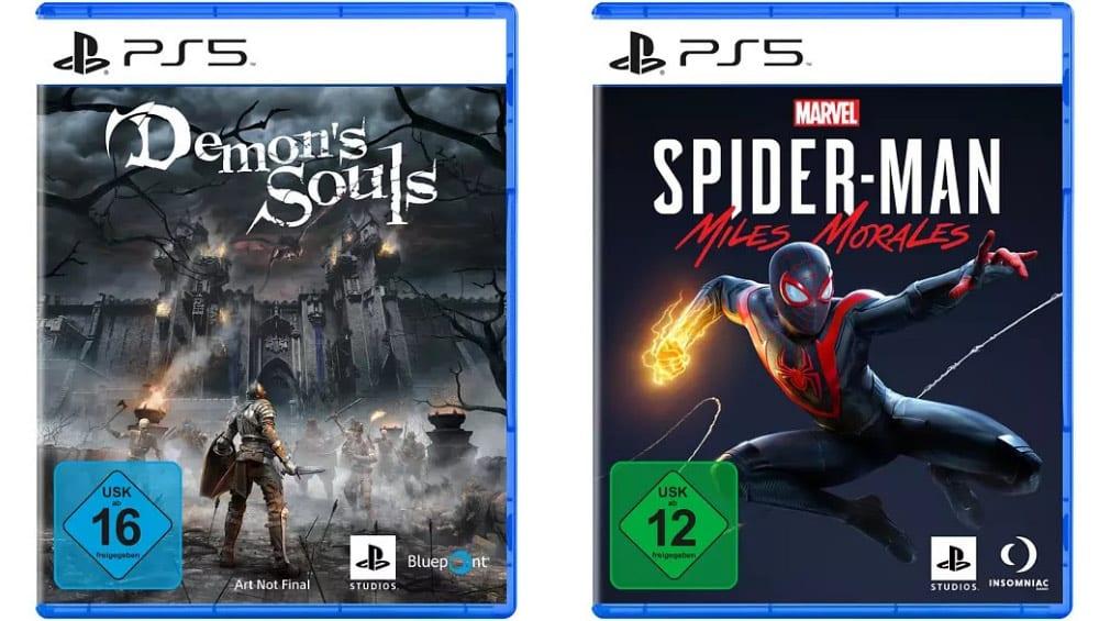 Playstation Bundle Angebote bei MediaMarkt & Saturn – unter anderem: Marvel's Spider-Man: Miles Morales + Demon's Souls PS5 für 69,99€