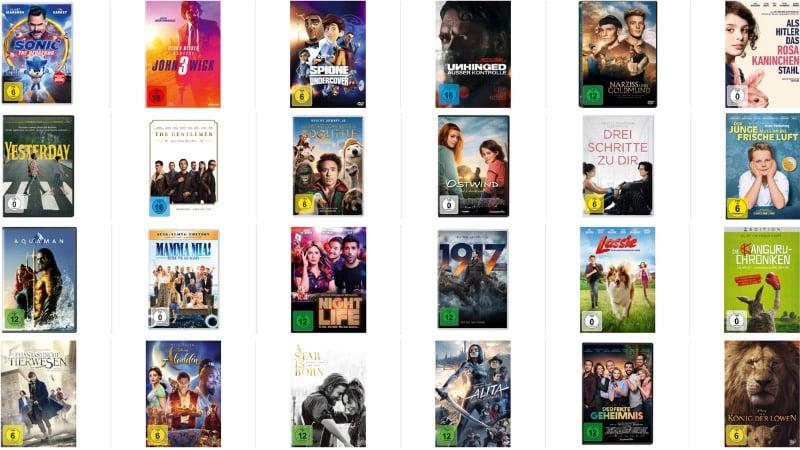3 DVDs für 15€ – Auswahl aus über 100 Titeln
