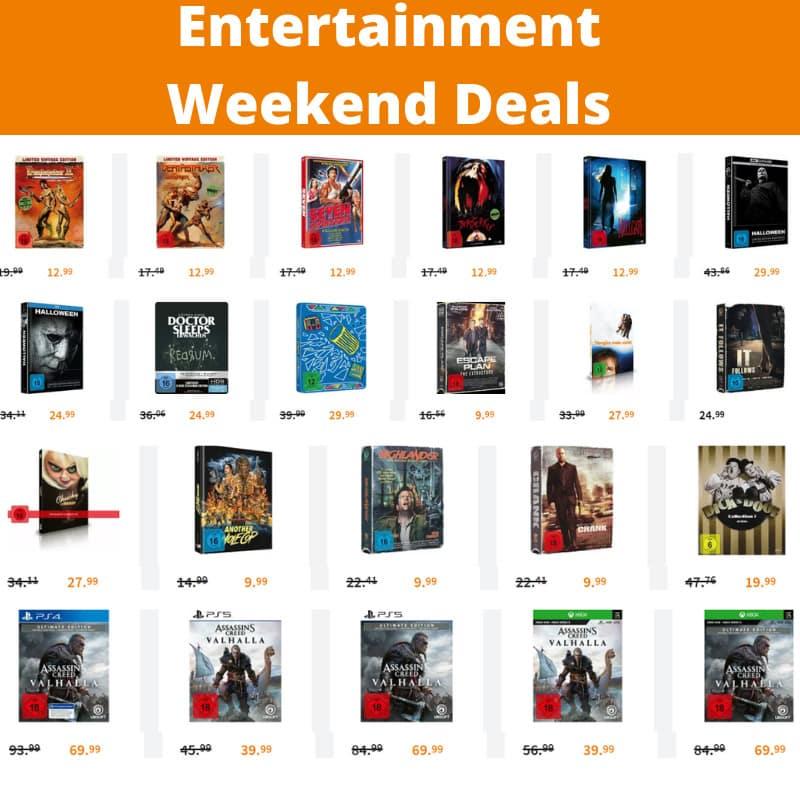 Entertainment Weekend Deals – unter anderem mit: Mediabook Editionen für je 12,99€