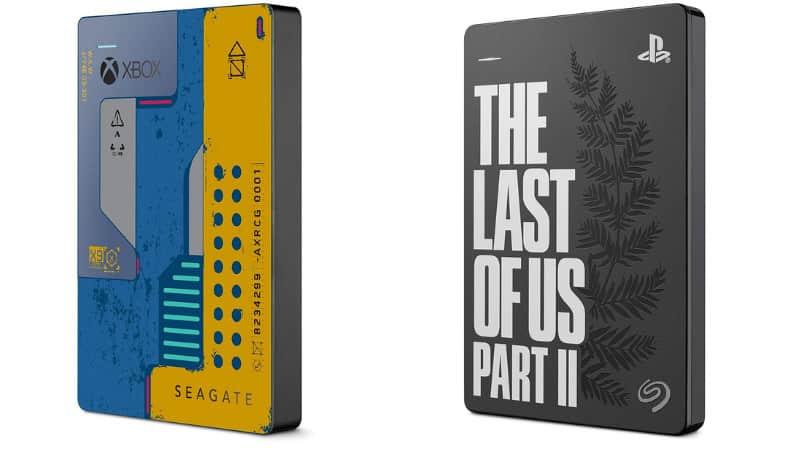 """Seagate 2 TB Game Drive Xbox """"CyberPunk 2077 Edition"""" und """"The Last of Us II Special Edition"""" für je 69,99€"""