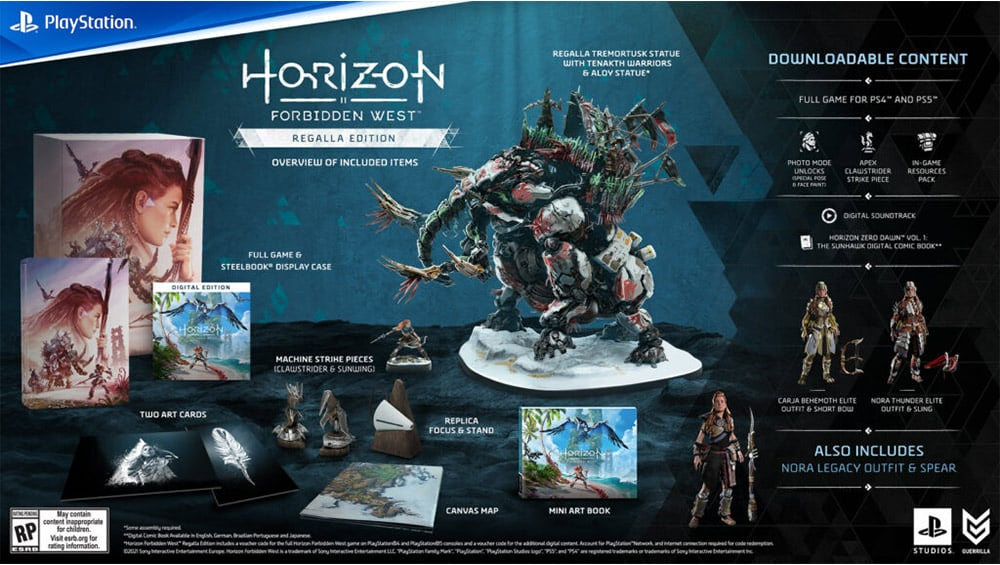 """Horizon Forbidden West"" Collectors Edition, Regalla Edition, Special Edition und Standard Varianten | ab Februar 2022 – Update3"