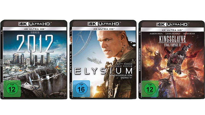 """2012""   ""Elysium""   Kingsglaive: Final Fantasy XV auf 4K UHD für je 16,49€"