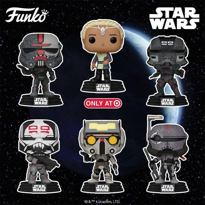 "6 Funko POP! Wackelkopf Figuren zur Serie ""Star Wars The Bad Batch"""