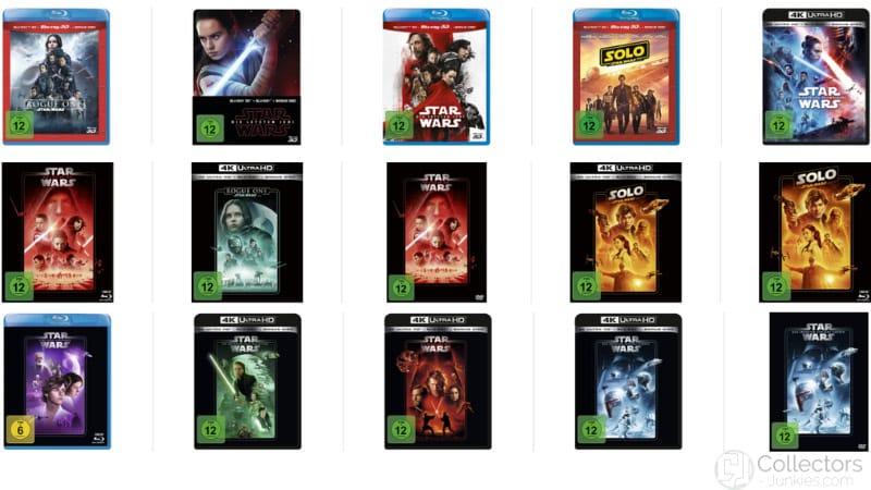 25% Rabatt auf diverse Star Wars Titel auf 4K UHD, Blu-ray und DVD
