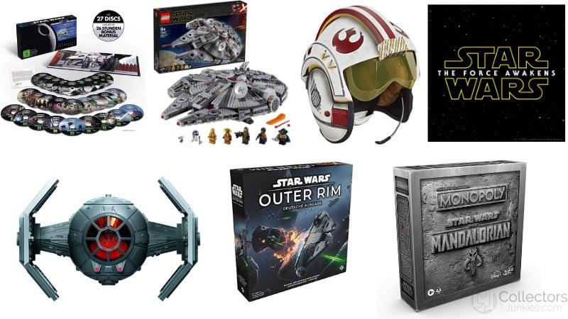 Tagesangebot: Star Wars Artikel reduziert – unter anderem mit: Die Skywalker Saga 4K Ultra HD für 124,97€   Mandalorian Monopoly für 32,99€
