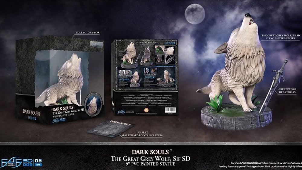 Dark Souls : The Great Grey Wolf Sif Statue von First4Figures