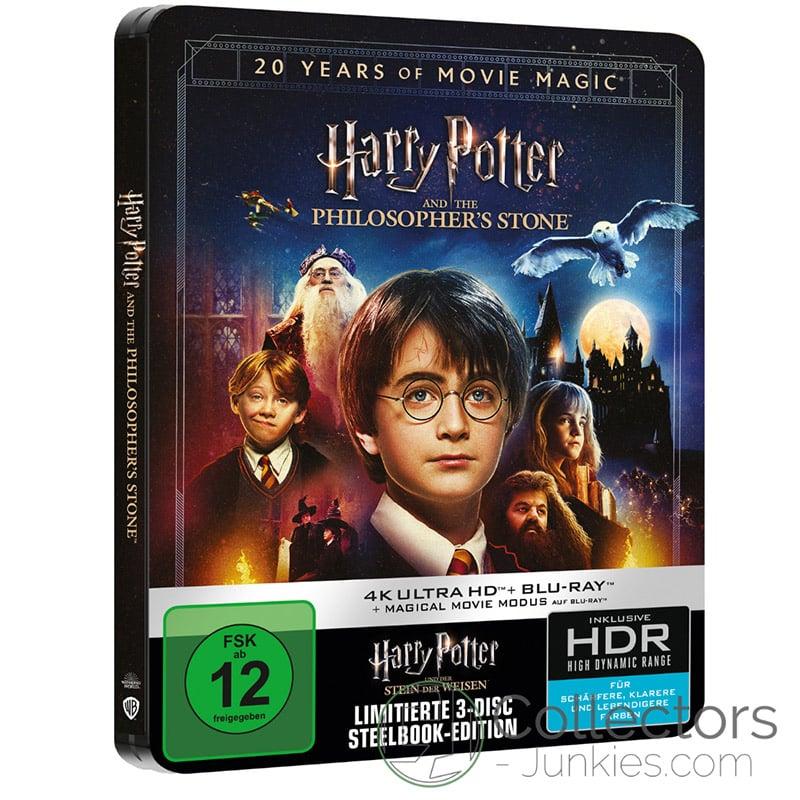 """""""Harry Potter und der Stein der Weisen inkl. Magical Movie Mode"""" im 4K Steelbook und weitere Neuauflagen der Komplettboxen (DE, IT, UK)"""
