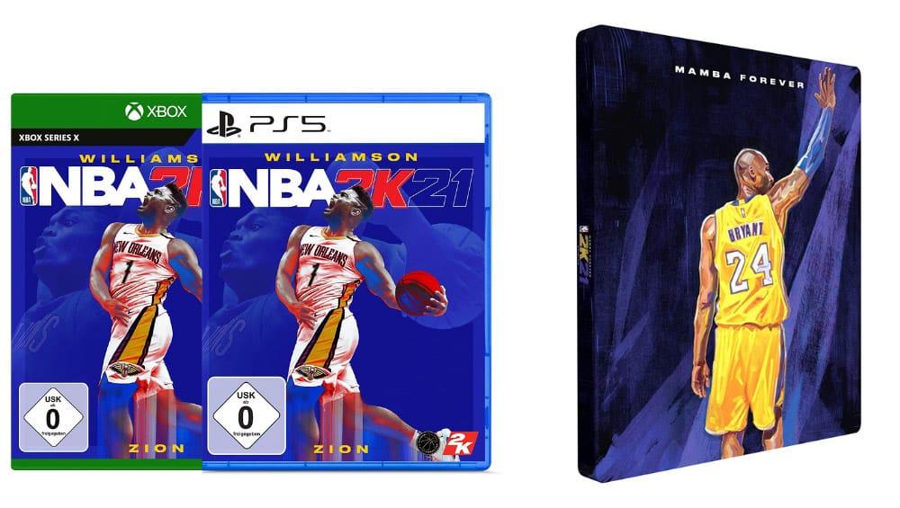 NBA 2K21 Steelbook Edition für die Playstation 5 und Xbox Series X für je 29,99€