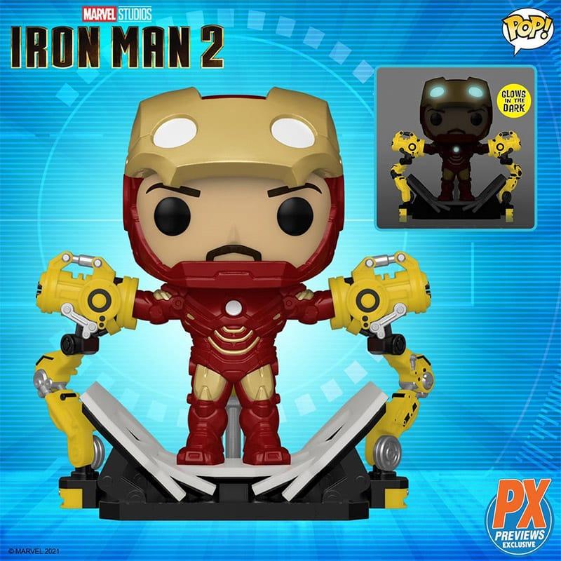 """""""Iron Man MK IV with Gantry"""" 6-Inch Deluxe Funko POP! mit Glow-in-the-Dark Effekt (Previews Exclusive)"""