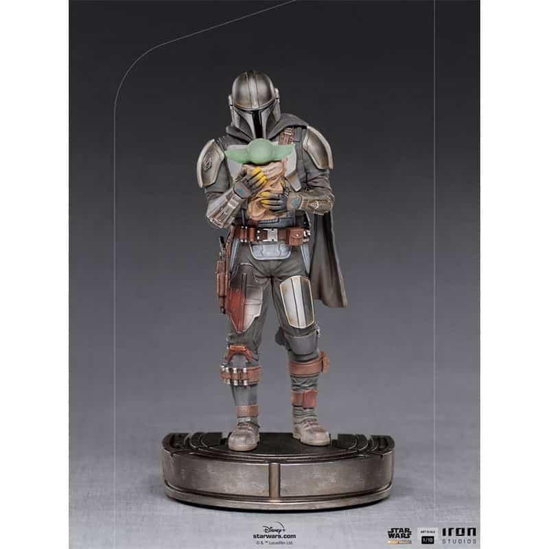 Star Wars The Mandalorian: Mandalorian & Grogu 1/10 Art Scale Statue von Iron Studios
