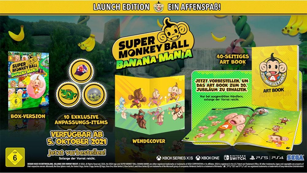 """""""Super Monkey Ball Banana Mania"""" in der Launch Edition für Playstation 4/5, Xbox One/ Series X und Nintendo Switch – Update"""