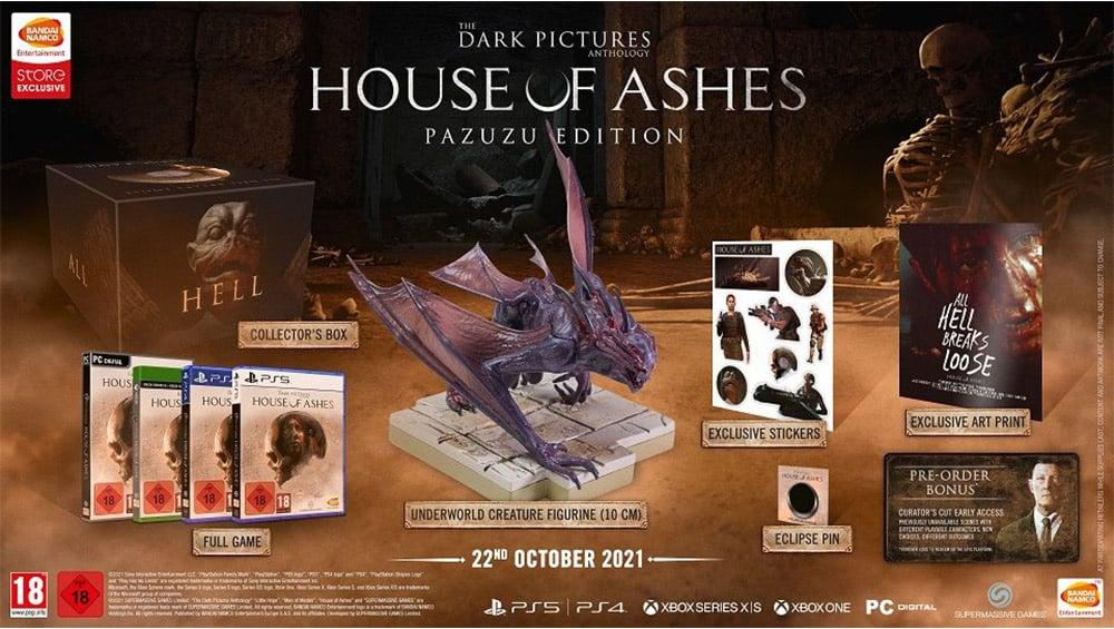 The Dark Pictures Anthology : House Of Ashes als Collectors Edition (Pazuzu Edition) und Standard Variante   ab Oktober 2021