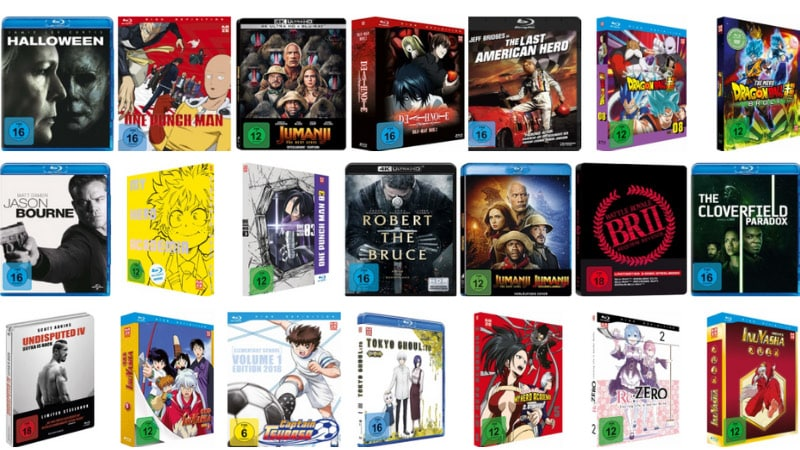 Action und Abenteuer Filme auf Blu-ray und DVD reduziert
