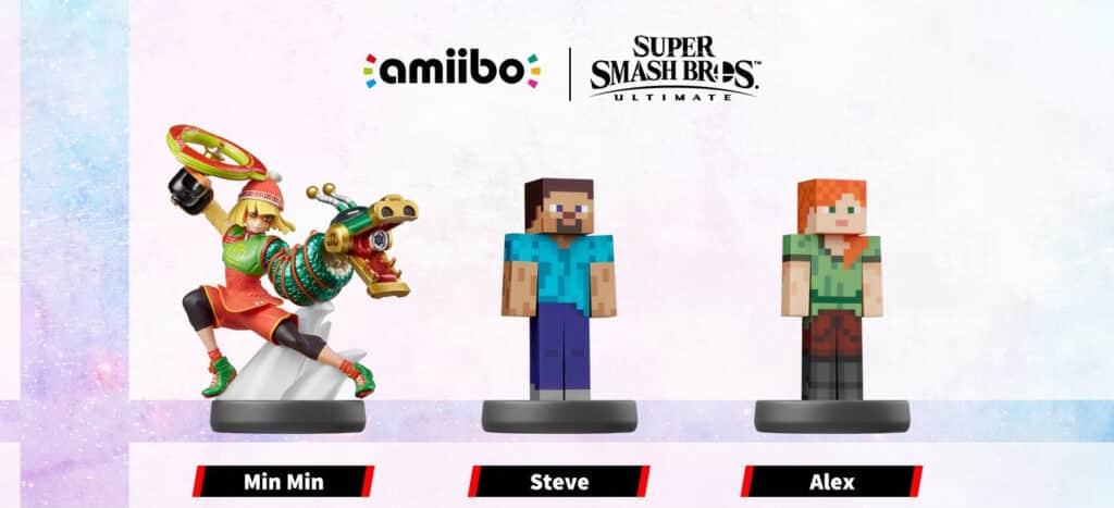 Min Min, Steve & Alex amiibo Figur aus der Super Smash Bros. Collection | ab 2022