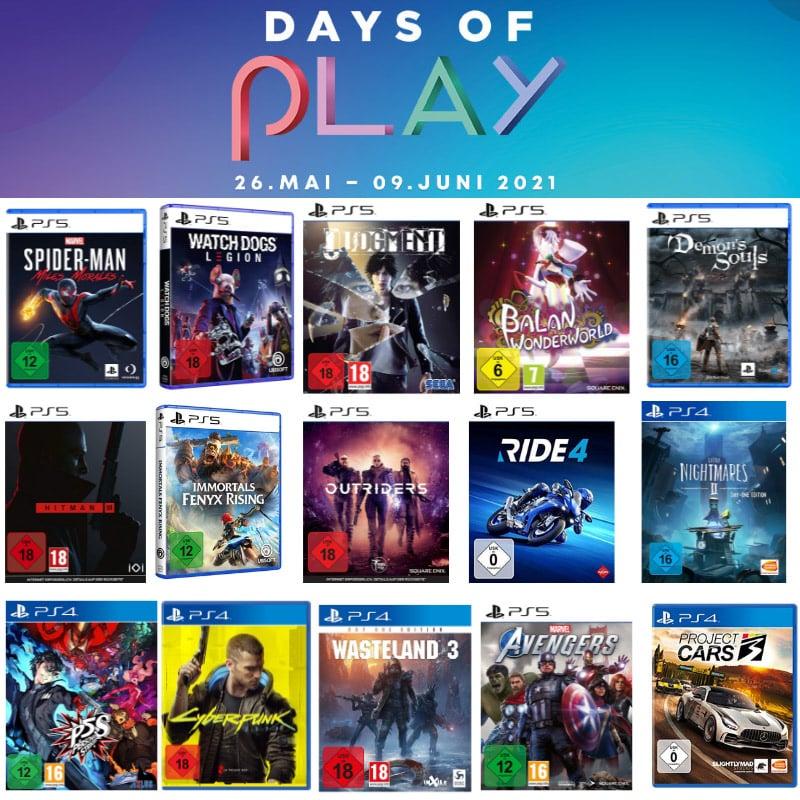 Days of Play 2021 – unter anderem: Spider-Man: Miles Morales PS5 für 37,99€ | Watch Dogs Legion PS5 für 19,99€