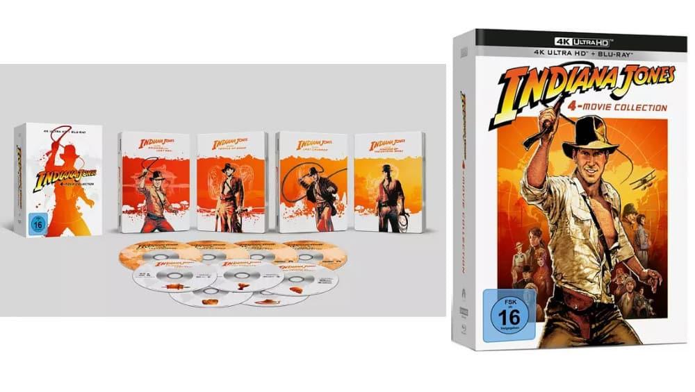 """""""Indiana Jones"""" 4K Steelbook Set für 109,99€ und 4K UHD Digipak für 71,92€"""