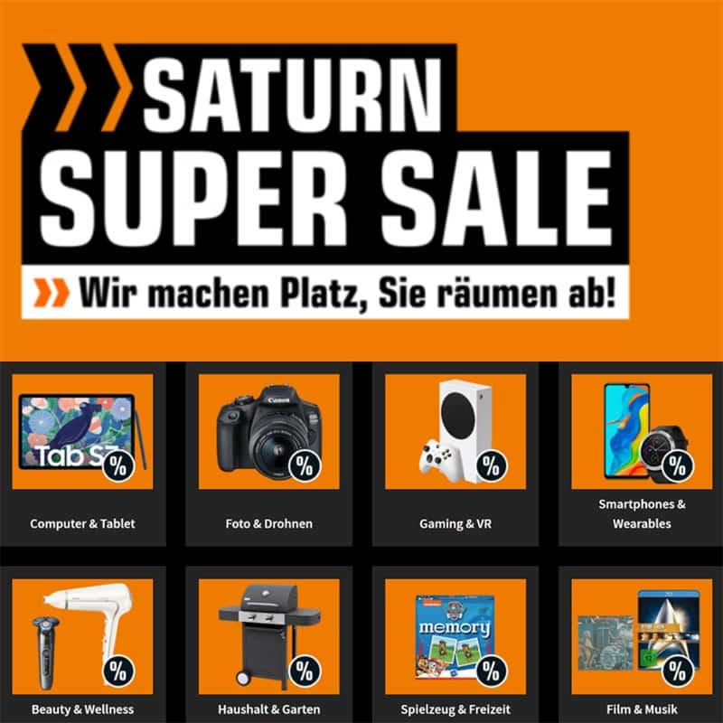 Saturn Super Sale Aktion – Direktabzug bei Notebooks und TVs, Videospiele & Filme reduziert
