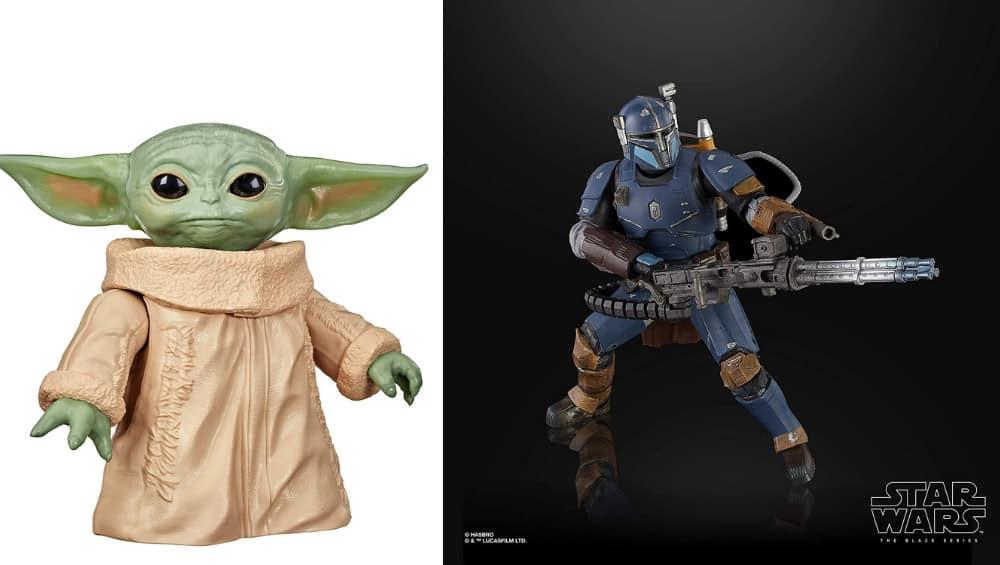 [Angebot Prime] Hasbro Star Wars – Infanterie Mandalorianer 15cm (The Black Series) für 24,99€ und The Child 16,5 cm Figur für 15,99€