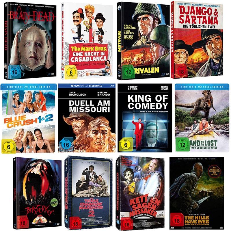 15% Zusatzrabatt auf ausgesuchte Filme – unter anderem diverse Mediabooks