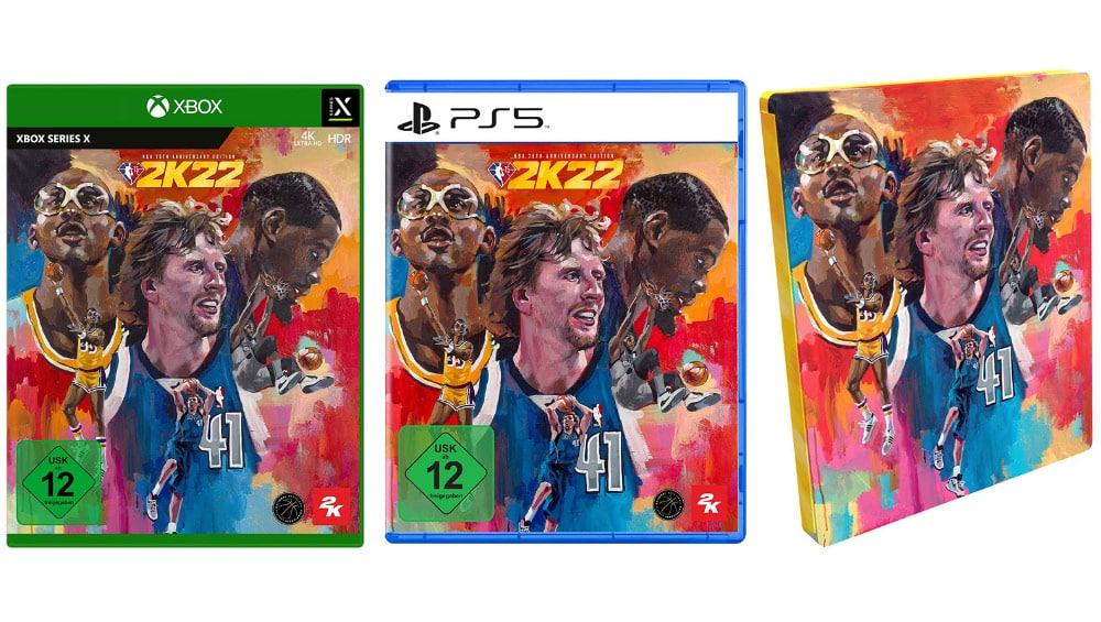 """""""NBA 2K22"""" ab September 2021 als 75th Anniversary Edition, Steelbook und weiteren Varianten – Update"""