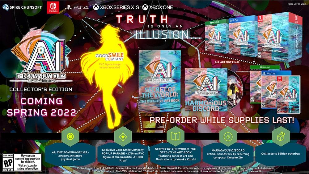 """AI: THE SOMNIUM FILES – nirvanA Initiative"" Collectors Edition für die Playstation 4, Xbox Series X/ One und Nintendo Switch | ab 2022 – Update3"