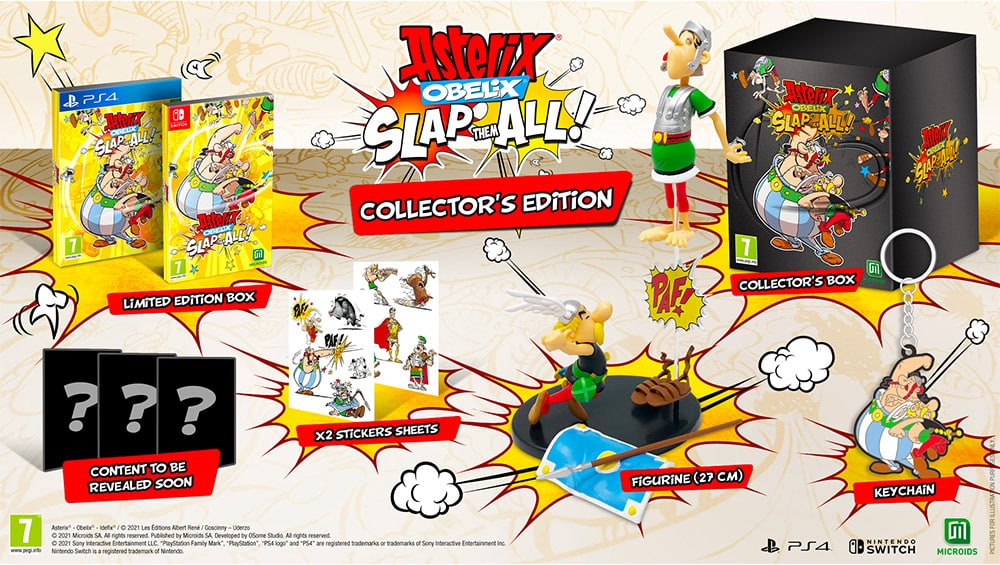 """""""Asterix & Obelix Slap them All!"""" als Collectors Edition und Limited Edition für Playstation 4, Xbox One, Nintendo Switch & PC 