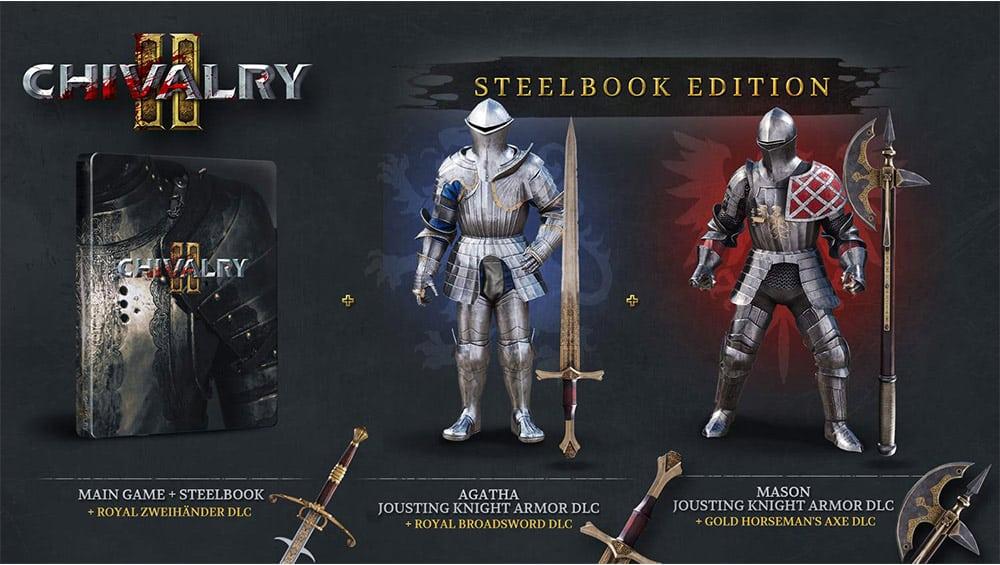 """""""Chivalry 2"""" in der Steelbook Edition Playstation 5 für 35,21€, Playstation 4 für 38,20€, Xbox für 42,25€ und PC für 37,12€"""