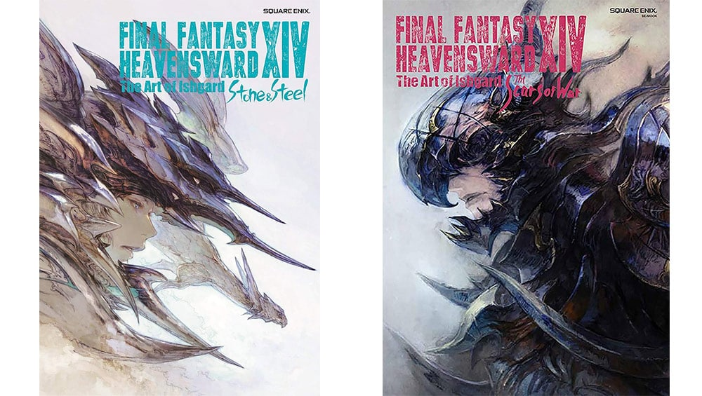 "Final Fantasy XIV: Heavensward – The Art of Ishgard ""Stone and Steel"" und ""The Scars of War"" für je 33,43€"