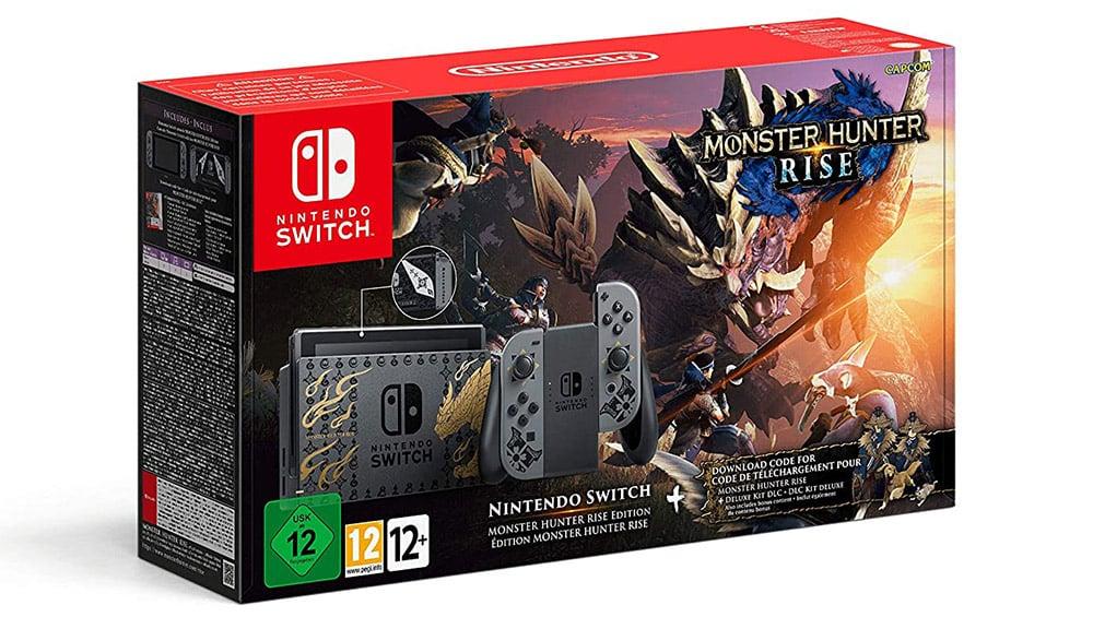 Nintendo Switch Konsole in der Monster Hunter Rise Edition für 354,38€
