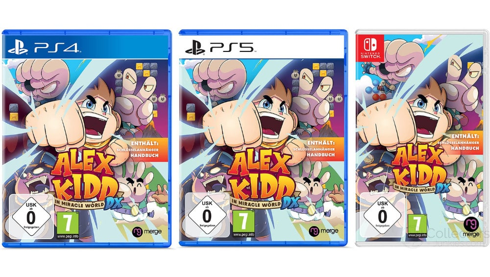"""""""Alex Kidd in Miracle World DX"""" für die Playstation 5/4 für je 22,99€ und für die Nintendo Switch für 24,99€"""