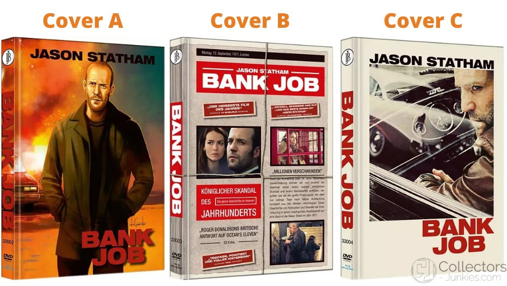 """""""Bank Job"""" ab August 2021 in 3 Blu-ray Mediabooks – Update3"""