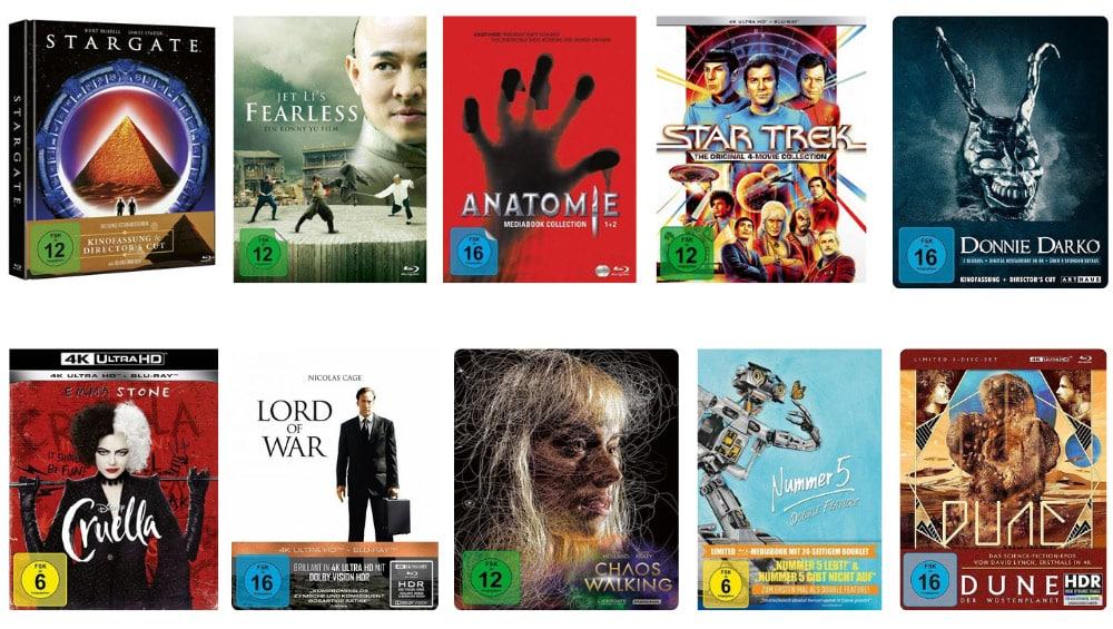 """12% Rabatt auf Filme, Spielwaren, Hörbücher und Hörbuch-Downloads bei Buecher – unter anderem mit: """"Stargate"""" im Mediabook Cover C für 21,11€"""