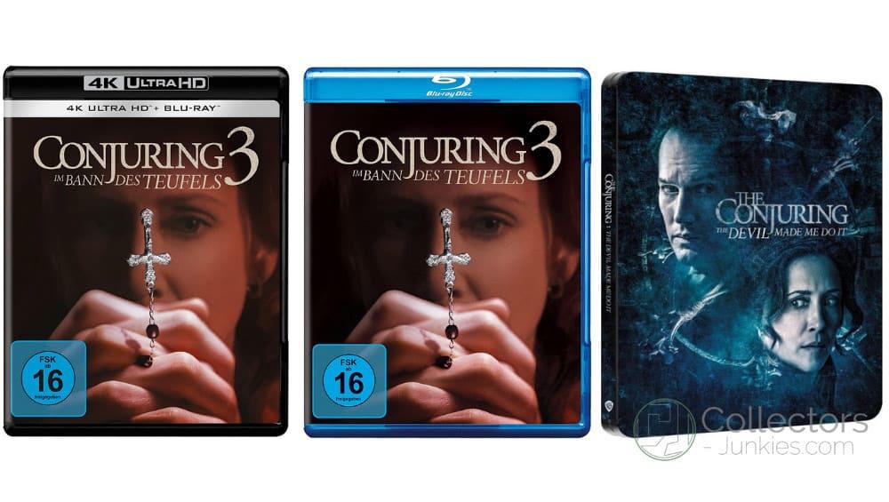 """""""Conjuring 3 – Im Bann des Teufels"""" im 4K Steelbook sowie in den Standard Varianten auf 4K UHD, Blu-ray und DVD (DE/ UK/ IT) – Update2"""