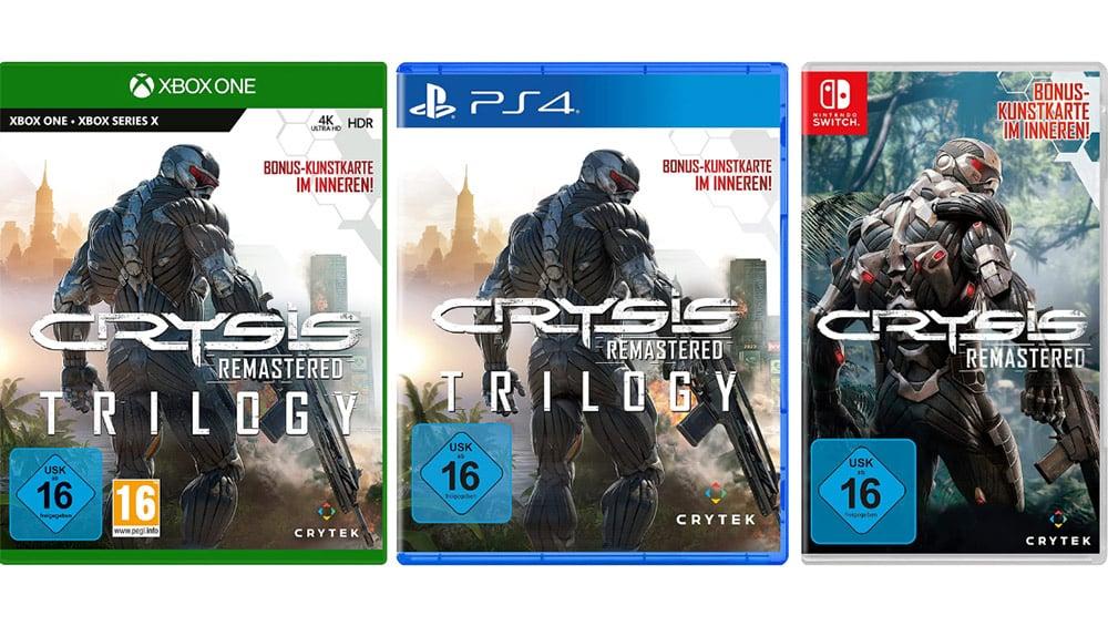 """""""Crysis Remastered Trilogy"""" für Playstation 4 und Xbox One/Series X & """"Crysis Remastered"""" für die Nintendo Switch"""