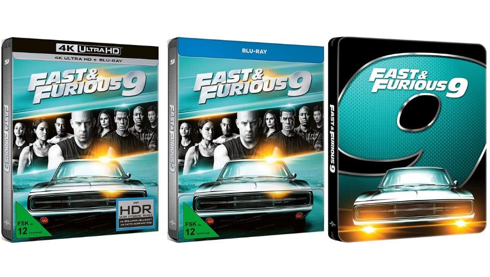 """""""Fast & Furious 9"""" im 4K- und HD-Steelbook sowie in Standard Varianten auf 4K UHD, Blu-ray und DVD (DE/ UK/ ES/ FR) – Update2"""