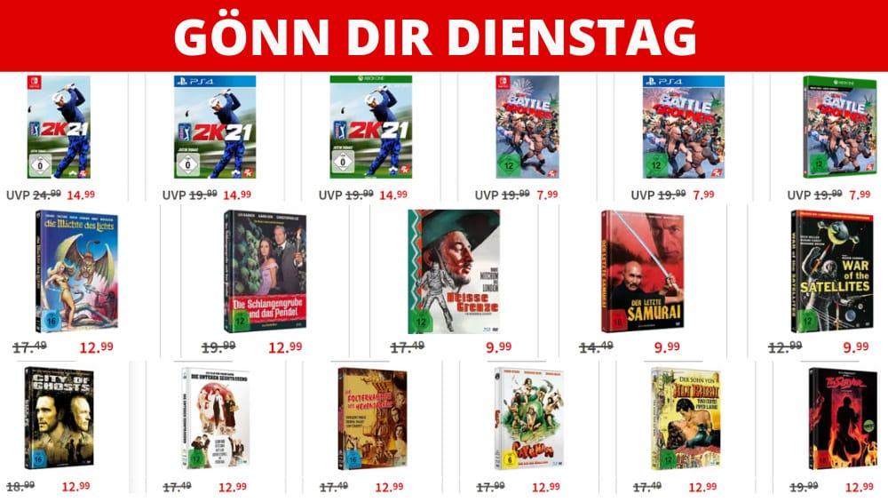 Gönn-dir-Dienstag Aktion – unter anderem mit: Blu-ray Mediabooks für je 12,99€