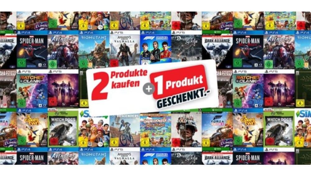 """Gutscheinheft bei MediaMarkt: unter anderem mit """"3 für 2"""" Aktion auf alle verfügbaren Games"""