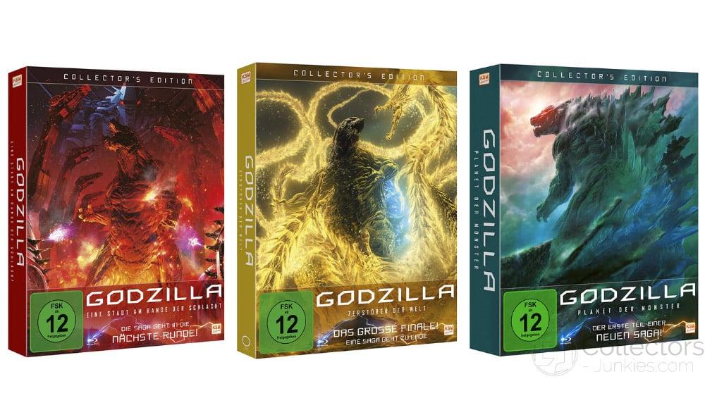 """Godzilla """"Zerstörer der Welt"""", """"Planet der Monster"""" & """"Eine Stadt am Rande der Schlacht"""" jeweils als Blu-ray Collectors Edition für je 17,97€"""