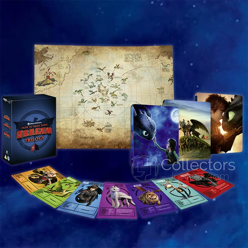 """How To Train Your Dragon Trilogy"" im Zavvi exklusiven 4K Steelbook Set | ab September 2021 – Update2"