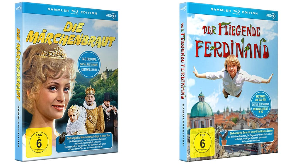 """Die Serien """"Der fliegende Ferdinand"""" und """"Die Märchenbraut"""" als Blu-ray Sammler Edition   ab Oktober 2021"""