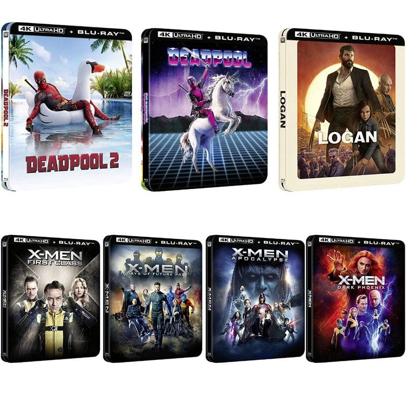 Deadpool, X-Men und Logan – jeweils im geprägten Lenticular 4K Steelbook für je 21,99€ (Frankreich)